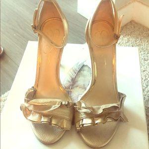 Jessica Simpson Shoes - Jessica Simpson Gold Silea Heels
